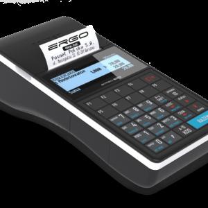 """DANE TECHNICZNE Wersja urządzenia ONLINE Pamięć chroniona karta micro SD/micro SDHC - 4GB Komunikacja z CRK USB, WiFi Eurofiskalizacja możliwość zaprogramowania dowolnej waluty ewidencyjnej, w jakiej moduł fiskalny będzie rejestrował sprzedaż (np. euro) BAZY DANYCH Stawki VAT 7 (A...G) Liczba PLU 4000, 6000/8000 (opcja) Nazwa towarów 40 znaków Dodatkowe kody kreskowe 1000 Max. liczba kodów do PLU 10 Zestawy towarów / wielopaki 1000 Notatnik 500 Kasjerzy 16 Opakowania 65 Formy płatności 16 (w tym 8 walut) Rabaty / narzuty 16 Rabaty czasowe 8 Jednostki miary 5 Klawisze skrótu 27 Grupy towarowe 32 Formaty kodów ważonych 10 Opisy wpłat / wypłat 10 Opisy towarów 30 Obsługa błędów 20 Bufor pozycji paragonowych 5000 MECHANIZM DRUKUJĄCY Typ mechanizmu drukującego termiczny, """"drop in - wrzuć i drukuj"""" Liczba znaków w wierszu 40 Szerokość papieru 57 mm Długość rolki papieru 30 m Szybkość wydruku 20 linii/s WYŚWIETLACZE Wyświetlacz operatora graficzny (192 x 64 pikseli) Wyświetlacz klienta graficzny (192 x 64 pikseli), podświetlany KLAWIATURA Liczba klawiszy klawiatury 29, klawiatura switchowa/silikonowa KOMUNIKACJA Porty standardowe 1 x USB (host), obsługa szuflady kasowej 5 V Porty dodatkowe • moduł rozszerzenia I - 2 x RS232 szuflada wielonapięciowa (opcja) • moduł rozszerzenia II -WiFi, Bluetooth, 2 x RS232, szuflada wielonapięciowa (opcja) • moduł rozszerzenia III - modem 3G, 2 x RS232, szuflada wielonapięciowa (opcja) Szuflada • 5V • 6V, 12V, 18V, 24V (opcja) Obsługiwane urządzenia komputer, skaner (USB/RS), waga, szuflada, weryfikator cen, drukarka paragonowa, modem 3G, waga zintegrowana, czytnik magnetyczny, pendrive, terminal płatniczy, hub USB, tunelowanie portów COM, monitoring Komunikacja z komputerem on-line, bez przerywania pracy kasjera ZASILANIE Zasilacz zewnętrzny Wbudowany akumulator Li-ion 7,2V/2150 mAh Port USB 1 WYMIARY, WAGA, TEMPERATURY Wymiary 94 x 62 x 230 mm (szer. x wys. x dł.) Waga 0,6 kg INNE Najważniejsze funkcje • modułowość - łatwość rozbudowy •"""